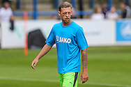 Forest Green Rovers Ben Jefford (3) warming up during the Vanarama National League match between Dover Athletic and Forest Green Rovers at Crabble Athletic Ground, Dover, United Kingdom on 10 September 2016. Photo by Shane Healey.