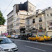Street in the Beyoglu district of Istanbul, Turkey.
