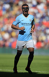 """Manchester City's Ilkay Gundogan during the Community Shield match at Wembley Stadium, London. PRESS ASSOCIATION Photo. Picture date: Sunday August 5, 2018. See PA story SOCCER Community Shield. Photo credit should read: Adam Davy/PA Wire. RESTRICTIONS: EDITORIAL USE ONLY No use with unauthorised audio, video, data, fixture lists, club/league logos or """"live"""" services. Online in-match use limited to 75 images, no video emulation. No use in betting, games or single club/league/player publications."""