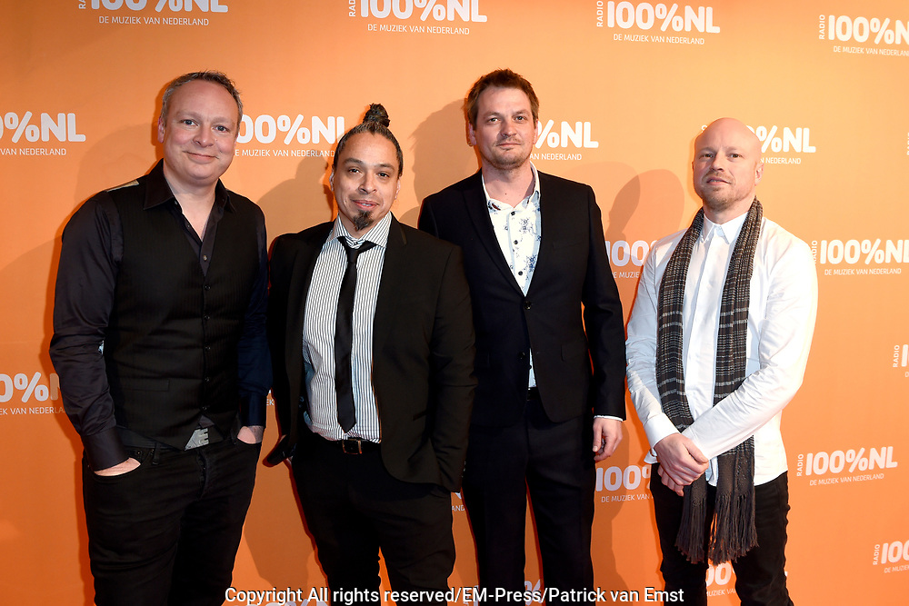 100% NL Awards 2018 in Panama, Amsterdam.<br /> <br /> Op de foto:  Blof -  Peter Slager, Bas Kennis, Chris Götte, Henk Tjoonk