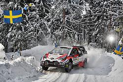February 15, 2018 - Suede - Esapekka Lappi (FIN) - Janne Ferm (FIN) - Toyota Yaris WRC (Credit Image: © Panoramic via ZUMA Press)