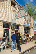 Bill Dragoo meets with the owner of Emma's Museum of Junk.
