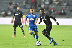 South Africa: Johannesburg: Orlando Pirates Innocent Maela and  SuperSport United Lakay Fagrie during the Absa Premiership at the Orlando stadium, Gauteng. <br /> Picture: Itumeleng English/African News Agency (ANA)<br />Picture: Itumeleng English/African News Agency (ANA)