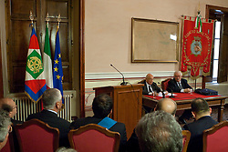 Rionero in V. (PZ) 03/10/2009 Italy - Il Presidente della Repubblica Giorgio Napolitano in visita nella casa natale di Giustino Fortunato.