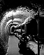 England during the Second World War; London Underground tunnel with bunk beds