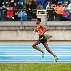 adidas Grand Prix Diamond League professional track & field meet: mens 5000 meters, Hagos GEBRHIWET, Ethiopia