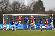 Goalmouth action during the FA Women's Super League match between Everton Women and Bristol City Women at the Select Security Stadium, Halton, United Kingdom on 17 January 2021.