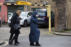 Family members of Henry Vincent who was killed in a struggle while burbling the home of Richard Osborn-Brooks in Hither green, arrive at Inner London South Coroner's Court. London, April 10 2018.