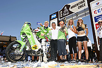 MOTORSPORT - DAKAR ARGENTINA CHILE 2010 - PODIUM ARRIVEE - PODIUM FINISH - BUENOS AIRES (ARG) - 17/01/2010- PHOTO : FRANCOIS FLAMAND / DPPI<br /> 4 - PAL ULLEVALSETER  ( NOR ) - KTM   - AMBIANCE - PORTRAIT - PODIUM
