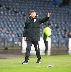 Airdrie's manager Mark Wilson. Queen's Park 2 v 1 Airdrie, Scottish Football League Division One game played 7/1/2017 at Hampden.