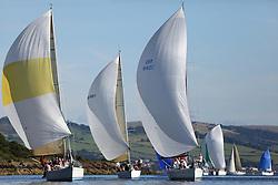 Peelport Clydeport Largs Regatta Week 2013 <br /> <br /> Class 1 Fleet Downwind, GBR9740R, Sloop John T, Swan 40, Iain & Graham Thomson, CCC, GBR8140C, Zephyr, First 40, Steven Cowie, RGYC<br /> <br /> Largs Sailing Club, Largs Yacht Haven, Scottish Sailing Institute