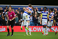 Queens Park Rangers midfielder Luke Freeman (2) celebrating after scoring 2-1 during the EFL Sky Bet Championship match between Queens Park Rangers and Rotherham United at the Loftus Road Stadium, London, England on 18 March 2017. Photo by Matthew Redman.