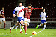 Northampton Town midfielder (on loan from Crystal Palace) Keshi Anderson (7) shoots during the EFL Sky Bet League 1 match between Northampton Town and Oldham Athletic at Sixfields Stadium, Northampton, England on 28 February 2017. Photo by Dennis Goodwin.