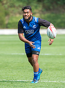 HONG KONG, CHINA - APRIL 03:, Young sensation Vilimoni Koroi is picked for the squad and joins training at So Kon Po Recreation Ground, Causeway Bay Hong Kong, Hong Kong SAR, China on April 03, 2017. New Zealand sevens rugby training