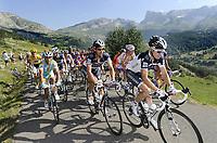 Sykkel<br /> Tour de France 2010<br /> 14.07.2010<br /> Foto: PhotoNews/Digitalsport<br /> NORWAY ONLY<br /> <br /> ANDY SCHLECK - PELOTON ILUSTRATION BERGEN MONTAGNE ILLUSTRATIE FABIAN CANCELLARA - STUART O'GRADY<br /> <br /> ETAPE 10 : CHAMBERY - GAP