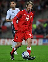 Photo: Tony Oudot/Richard Lane Photography.  England v Czech Republic. International match. 20/08/2008. <br /> Jaroslav Plasil of Czech Republic .