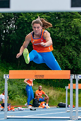 Emma Oosterweegel in action during the Press presentation of the olympic team Athletics on July 8, 2021 in Papendal Arnhem