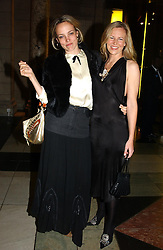 Left to right, BAY GARNETT and ALANNAH WESTON at the 2004 British Fashion Awards held at Thhe V&A museum, London on 2nd November 2004.<br /><br />NON EXCLUSIVE - WORLD RIGHTS