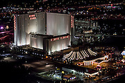 Aerial view of Circus Circus Hotel the Strip, Las Vegas, Nevada, USA