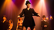 """Stella La Rocque, DeVaughn Dior, Honey, Dottie La Vie, Lily Bloom, and Ivy Fabulous performing their live burlesque striptease: """"Detective"""" in LIVE NEW'D GIRLS 2013, Mayne Stage,  (Mike White)"""