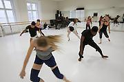 Universities in Vienna, Austria..Konservatorium Wien Privatuniversität..Modern dance class.