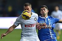 Lukas Podolski Inter, Elseid Hysaj Empoli <br /> Empoli 17-01-2015 Stadio Carlo Castellani, Football Calcio Serie A Empoli - Inter . Foto Andrea Staccioli / Insidefoto