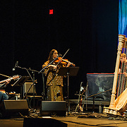 WASHINGTON, DC - December 10th, 2015 - Ryan Francesconi, Mirabai Peart and Pete Newsom perform with Joanna Newsom at the Lincoln Theatre in Washington, D.C.  (Photo By Kyle Gustafson / For The Washington Post)