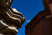 Sala de les Cent Columnes or  Sala Hipóstila - Parc Guell, Barcelona, Catalonia, Spain. A public park design by famed Catalan architect Antoni Gaudim featuring gardens and architectural curiousities.