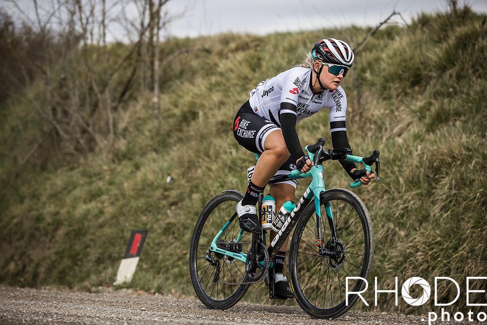 Georgia Williams (AUS/BikeExchange)<br /> <br /> 7th Strade Bianche Women Elite <br /> Siena > Siena 136km<br /> <br /> ©RhodePhoto