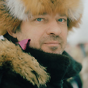 Portrait of a man in the cold of Lapland, Sweden