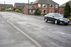 Minster Road which had flooded right across the carriageway.5 July 2012.Image © Paul David Drabble