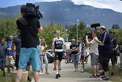 July 16, 2018 - Chambery, FRANCE - British Chris Froome of Team Sky pictured on the first rest day in the 105th edition of the Tour de France cycling race, in Chambery, France, Monday 16 July 2018. This year's Tour de France takes place from July 7th to July 29th. BELGA PHOTO YORICK JANSENS (Credit Image: © Yorick Jansens/Belga via ZUMA Press)