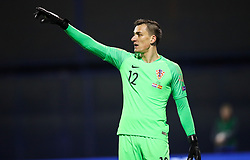 Lovre Kalinic of Croatia during the UEFA Nations League football match between Croatia and Spain, on November 15, 2018, at the Maksimir Stadium in Zagreb, Croatia. Photo by Morgan Kristan / Sportida