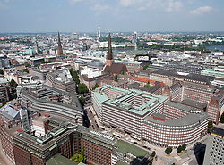 Cityscape of city of Hamburg in Germany