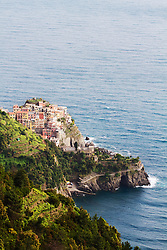 Village of Corniglia in Cinque Terra National Park, Italy