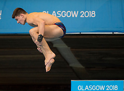 Great Britain's Matthew Dixon competing in the Men's 10m Platform Final during day eleven of the 2018 European Championships at the Royal Commonwealth Pool, Edinburgh. PRESS ASSOCIATION Photo. Picture date: Sunday August 12, 2018. See PA story DIVING European. Photo credit should read: Ian Rutherford/PA Wire. RESTRICTIONS: Editorial use only, no commercial use without prior permission