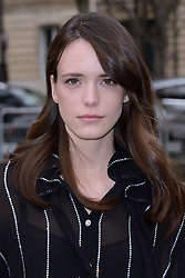 Stacy Martin attending the Miu Miu show as part of the Paris Fashion Week Womenswear Fall/Winter 2018/2019 in Paris, France on March 06, 2018. Photo by Aurore Marechal/ABACAPRESS.COM