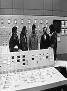 Tanaiste,Dick Spring,Visits Moneypoint..1984..23.11.1984..11.23.1984..23rd November 1984..The Tanaiste and Minister for Energy,Mr Dick Spring,visited Moneypoint Generating Station,Co Clare. He visited the site to view the progress of work there...Picture taken of the control room at Moneypoint Generating Station,Co,Clare..In the photograph are (L-R)Mr Paddy Deane,Deputy Site Manager,Mr Pat O'Brien,Station Manager, Tanaiste and Minister for Energy,Mr Dick Spring,Mr P. J.Moriarty,CEO,ESB,and Mr Heber McMahon,Site Manager.
