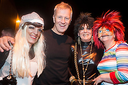 The Hubs, Hallam Union, Paternoster Row plays host to Sheffield's biggest Fancy Dress Ball. More than 900 people in fancy dress to raise money for Cancer Research on Saturday night .Event Organisers Sharon Berisford Barbara France and Michele France with Professor Malcolm Reed.6 April  2013.Image © Paul David Drabble...6 April  2013.Image © Paul David Drabble