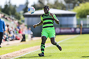 Forest Green Rovers Dale Bennett(6) on the ball during the Vanarama National League match between Forest Green Rovers and Maidstone United at the New Lawn, Forest Green, United Kingdom on 22 April 2017. Photo by Shane Healey.