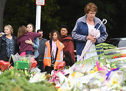 CHRISTCHURCH, March 17, 2019  People gather to mourn for the victims of the attacks on two mosques in Christchurch, New Zealand, on March 17, 2019. The death toll from the terror attacks on two mosques in New Zealand's Christchurch has risen to 50 as one more victim was found at one of the shooting scenes, the police said on Sunday. (Credit Image: © Xinhua via ZUMA Wire)