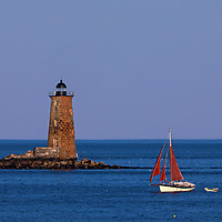 Sailing boat passing by Whaleback Ledge Lighthouse in southern Maine near the New Hampshire border. This historic New England lighthouse is located near Portsmouth, New Hampshire and is also known as Whaleback Light or Whaleback Ledge Lighthouse. Originally, I was inspired by the tall and old lighthouse structure out in the ocean that tells the story of bracing Mother Nature for a century and more. The sailboat passing by was extra icing on the cake.   <br /> <br /> Historic New England and Whaleback Lighthouse photos are available as museum quality photography prints, canvas prints, acrylic prints, wood prints or metal prints. Fine art prints may be framed and matted to the individual liking and decorating needs:<br /> <br /> https://juergen-roth.pixels.com/featured/whaleback-lighthouse-and-sailboat-juergen-roth.html<br /> <br /> Good light and happy photo making!<br /> <br /> My best,<br /> <br /> Juergen<br /> Prints: http://www.rothgalleries.com<br /> Photo Blog: http://whereintheworldisjuergen.blogspot.com<br /> Instagram: https://www.instagram.com/rothgalleries<br /> Twitter: https://twitter.com/naturefineart<br /> Facebook: https://www.facebook.com/naturefineart