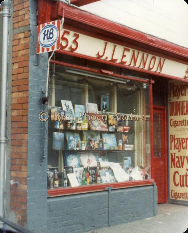 Old amateur photos of Dublin July 1983 WITH Phibsboro Shops, Gibney's Malahide, Coast Road Malahide, Portmarnock coast road, Fagans Pub Botanic Avenue, Lusk, Gresham Hotel Entrance, j, lennon, 63,