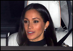 December 20, 2017 - London, London, United Kingdom - Image licensed to i-Images Picture Agency. 20/12/2017. London, United Kingdom. Meghan arrives with Prince Harry for The Queen's Christmas lunch at Buckingham Palace in London. (Credit Image: © Stephen Lock/i-Images via ZUMA Press)