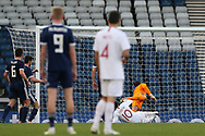 Portugal forward Helder Costa (10) (Wolverhampton Wanderers)  opens the scoring with a goal 0-1 during the Friendly international match between Scotland and Portugal at Hampden Park, Glasgow, United Kingdom on 14 October 2018.