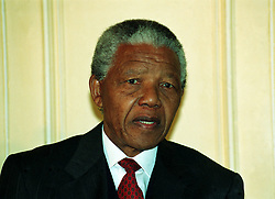10th MAY : On this day in 1994 Nelson Mandela became the first black president of South Africa. ANC leader, Nelson Mandela, during a visit to London.
