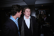 John thursfield and Charles beamish. 'Polo' party  at The Westbury Hotel, Bond Street, London W1 on 26th April 2005.ONE TIME USE ONLY - DO NOT ARCHIVE  © Copyright Photograph by Dafydd Jones 66 Stockwell Park Rd. London SW9 0DA Tel 020 7733 0108 www.dafjones.com