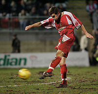 Daryl McMahon scores for Leyton Orient.<br /> Leyton Orient v Northampton Town, Coca Cola League 2, London. 14/01/06 Photo by Barry Bland