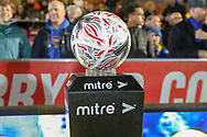 Fa Cup ball during the The FA Cup match between AFC Wimbledon and West Ham United at the Cherry Red Records Stadium, Kingston, England on 26 January 2019.