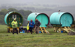 June 8, 2017 - Appleby, Cumbria, United Kingdom - Image ©Licensed to i-Images Picture Agency. 08/06/2017. Appleby, United Kingdom. Appleby Horse Fair. ..Activity on the camp on the outskirts of the town. Picture by Chris Booth / i-Images (Credit Image: © Chris Booth/i-Images via ZUMA Press)